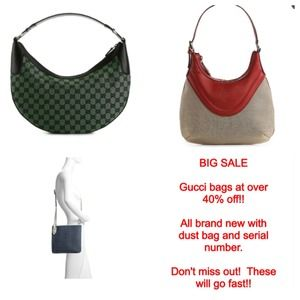 New Gucci bags ... Over 40% off!!