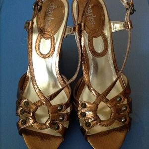 Beautiful Golden Brown Platforms by Charles David