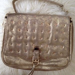 R&Em Handbags - Gold Metallic Purse