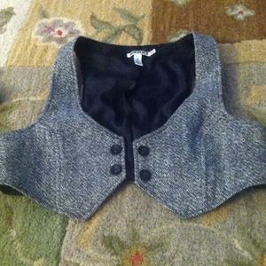 Grey tweed vest