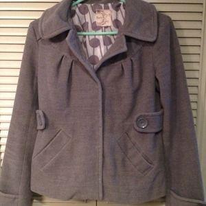 TULLE Grey wool jacket.