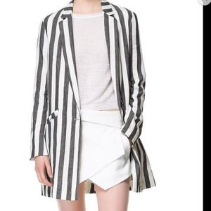 Zara Long Jacket Blazer size Medium