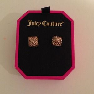 Juicy Couture Rose Gold Pyramid Stud Earrings
