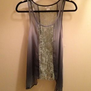 Size XS Lace Ombré Tunic Top