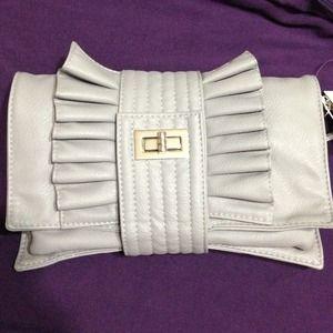 Handbags - Grey convertible clutch
