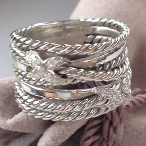 David Yurman AUTHENTIC crossover x with diamonds