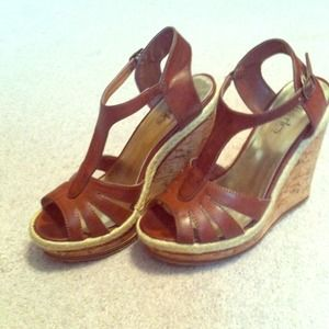 Brown wedges! Size 6.5!