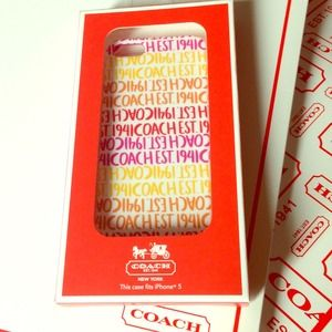 NEW Authentic Coach iPhone 5 Hard Case