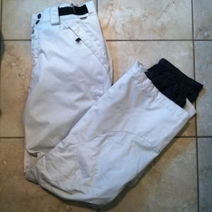 Five Seasons white ski/snowboard pants
