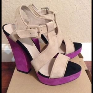 Zara Heels in Tan & Purple!
