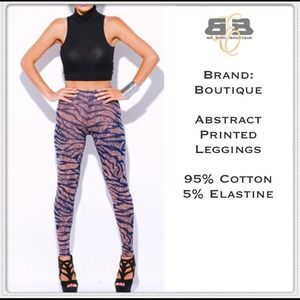 Pants - Abstract Printed Leggings