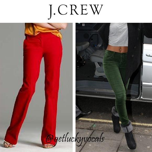 87d1afea70a J. Crew Pants - J.Crew GREEN Favorite Fit Cords