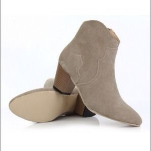 Sam Edelman Boots - Beige Ankle Boots