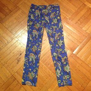 LOFT Floral Pants- Never Worn