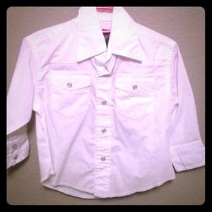 Xxs wrangler pearl snap shirt