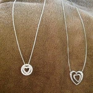 Jewelry - Silver heart necklaces