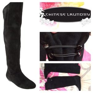 Chinese Laundry over the knee Boots.
