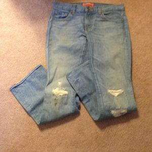JBrand Boutique distressed jeans. Sz 26x30.