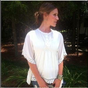 Tops - SOLD!! Hippie Chic Lace Blouse