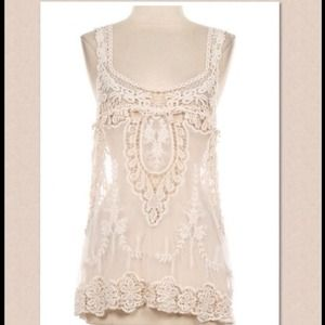 Tops - SOLD IN BUNDLE Romantic Chic Lace Tank