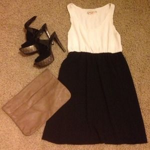 Alice + Olivia To Work! Black and White Dress
