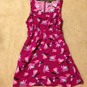 Fuschia Printed Dress