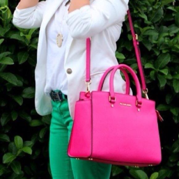 9% off Michael Kors Handbags - On Hold Michael Kors Neon Pink ...
