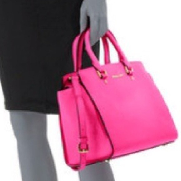 9% off Michael Kors Handbags - On Hold Michael Kors Neon Pink ...