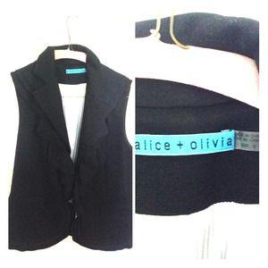 Alice + Olivia blazer vest