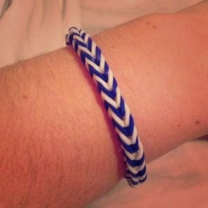 Jewelry - Dark blue and white chevron bracelet PENN STATE