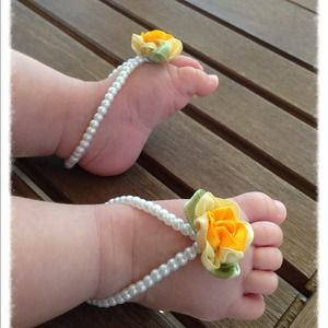 Other - Handmade baby barefoot sandals