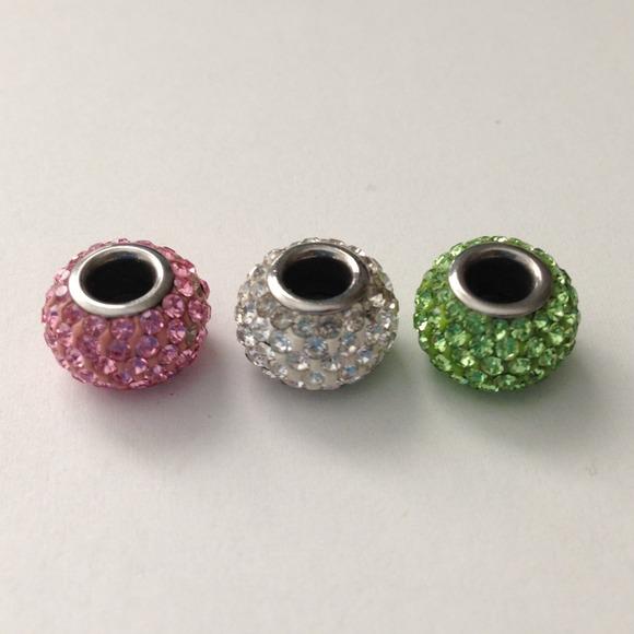 Hallmark Charms For Bracelets: Hallmark Pandora Style Rhinestone Charms From