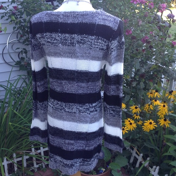 Ultra Flirt Dresses & Skirts - Black/Gray/ivory Multi Sweater Dress 2