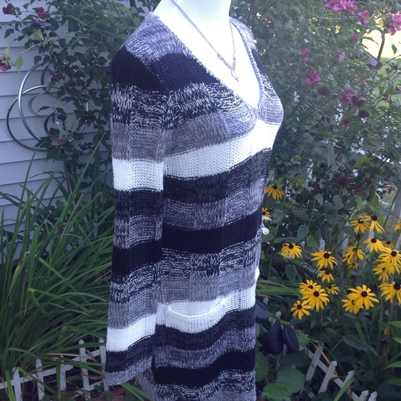 Ultra Flirt Dresses & Skirts - Black/Gray/ivory Multi Sweater Dress 3