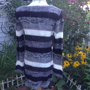 Ultra Flirt Dresses - Black/Gray/ivory Multi Sweater Dress 2