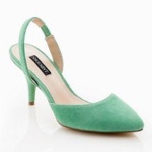 "Shoemint ""Karen"" mint green slingback heels 6.5"