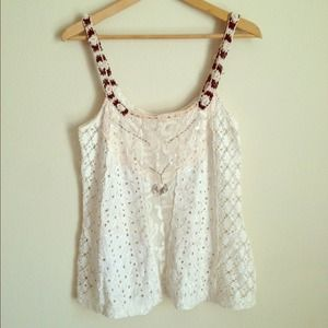 🎀FREE PEOPLE cream color top🎀