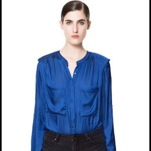 Zara Tops - Zara silk blouse