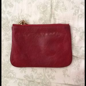 Rebecca Minkoff red leather pouch
