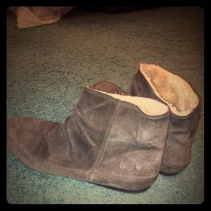 Lucky Brand Suede Ankle Boots