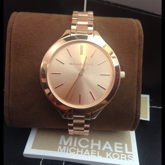 cbddd739be Michael Kors Slim Runway 42mm Rose Gold