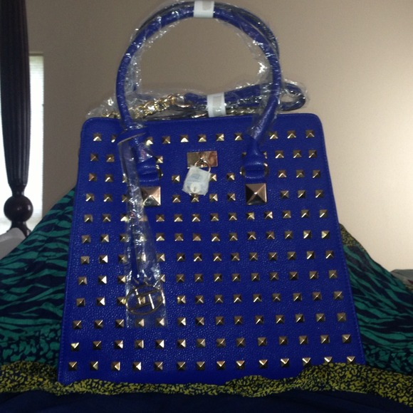 60% off Handbags - Michael kors inspired studded royal blue ...