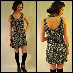 90s double strap blossom dress