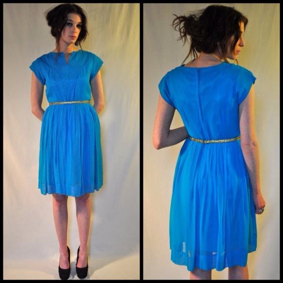 Dresses & Skirts - 50s/60s chiffon party dress