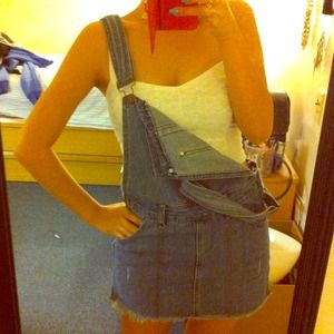 Dresses & Skirts - Denim overall skirt