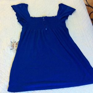 Dresses & Skirts - Adorable Blue Peasant Dress