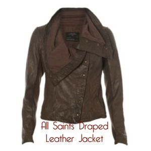 HOST PICK All saints leather drape jacket
