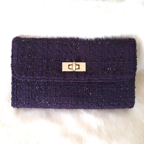 New Purple Chain Strap Crossbody/Clutch