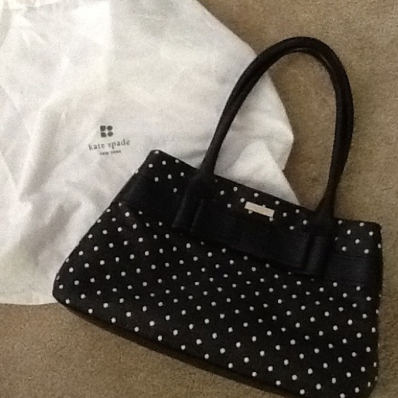 Polka dots purse craftbnb kate spade polka dot purse authentic from junglespirit Gallery