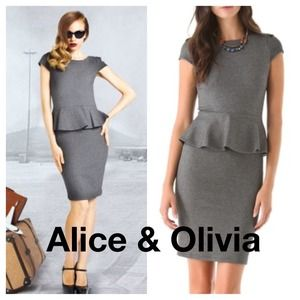 Alice + Olivia 'Victoria' dress in grey